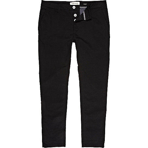 Black skinny stretch trousers