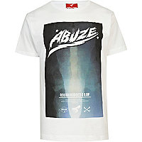 White Abuze London rough & raw print t-shirt