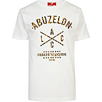White Abuze London tiger print t-shirt