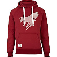 Red Abuze London wasp logo hoodie
