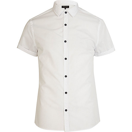 White short sleeve poplin shirt