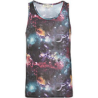 Purple cosmic print vest