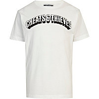 White Cheats & Thieves print t-shirt