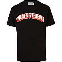 Black Cheats & Thieves print t-shirt
