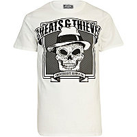 White Cheats & Thieves skull print t-shirt