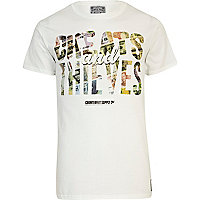 White Cheats & Thieves money print t-shirt