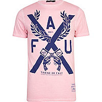 Pink Friend or Faux X print t-shirt