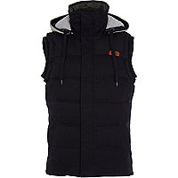 Navy casual padded gilet