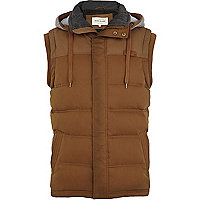 Light brown padded gilet
