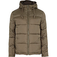 Khaki green padded jacket