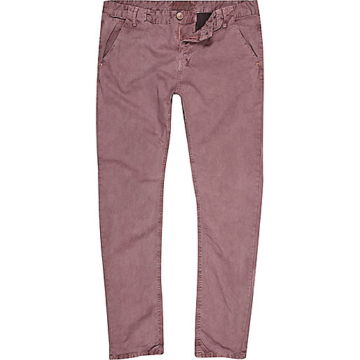 Light red slim chinos