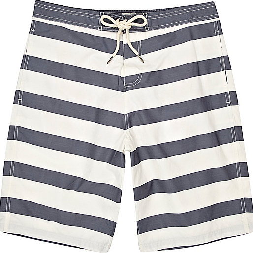 Blue stripe board shorts