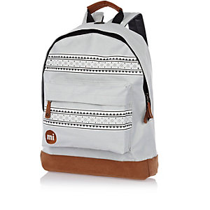 Grey Mipac Nordic print backpack