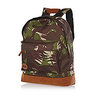 Green camo print MiPac backpack