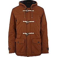 Light brown casual duffle jacket