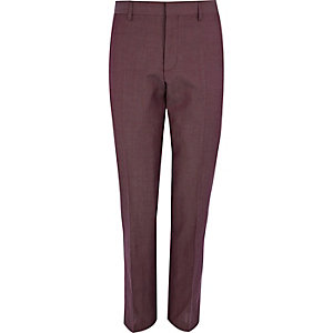 Purple slim suit trousers