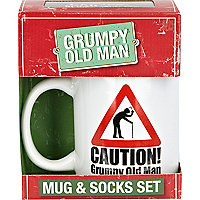 Grumpy old man mug and socks gift set