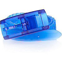Bright blue silicone rubber belt