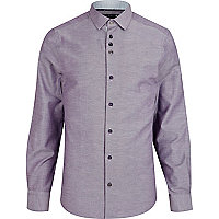 Light purple chambray long sleeve shirt