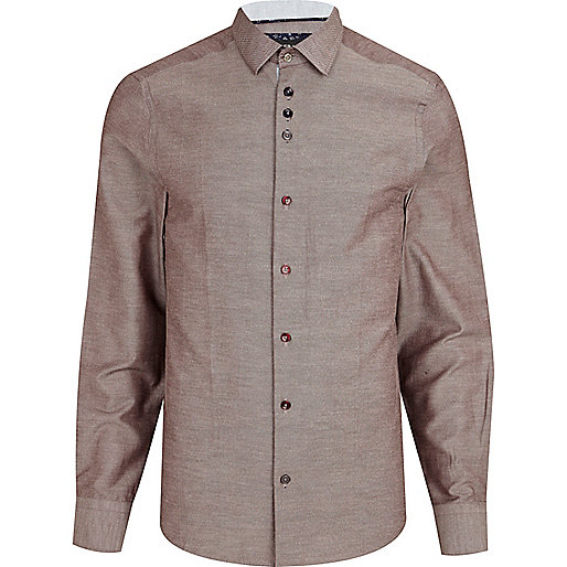 Light red chambray shirt