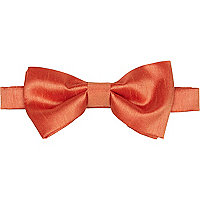 Bright orange bow tie