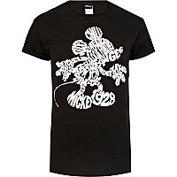 Black Mickey Mouse word print t-shirt