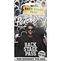 Black backstage pass poncho