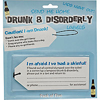 Novelty drunk and disorderly labels