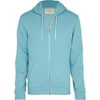 Pale blue zip through hoodie