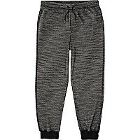Black marl textured joggers