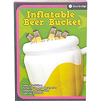Novelty inflatable beer bucket