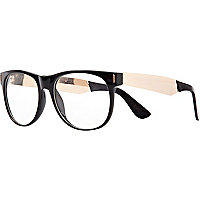 Black two-tone clear glasses