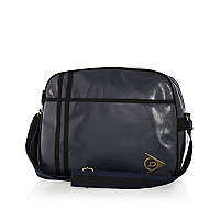 Navy Dunlop high shine messenger bag