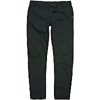 Dark green slim chinos
