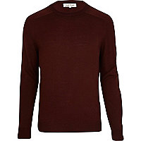 Dark red raglan sleeve jumper