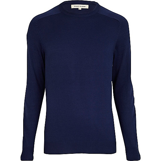 Blue raglan sleeve jumper