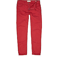 Bright red Sid skinny stretch jeans