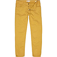 Mustard yellow Sid skinny stretch jeans