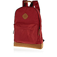 Red two-tone rucksack
