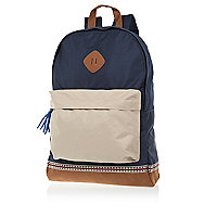 Navy colour block rucksack
