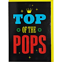 Top of the Pops greeting card