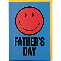 Smiley face Father's day greeting card