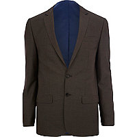 Light brown skinny suit jacket