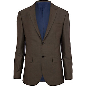 Light brown classic suit jacket