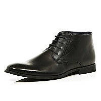 Black lace up formal boots