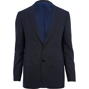 Dark blue skinny suit jacket