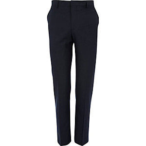 Dark blue skinny suit pants