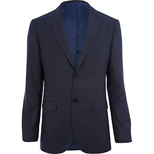 Dark blue tailored fit suit jacket