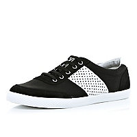 Black perforated side panel plimsolls