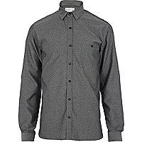 Grey Jack & Jones Premium ditsy print shirt